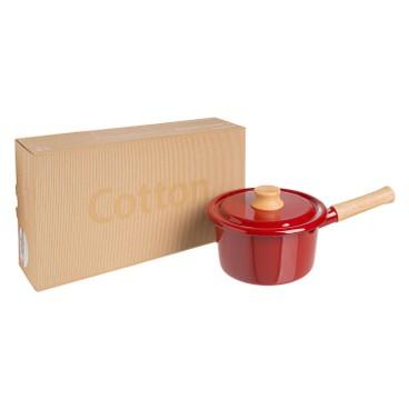 ENAMEL - IH 手柄式湯鍋16CM (酒紅色) (電磁爐適用) - PC