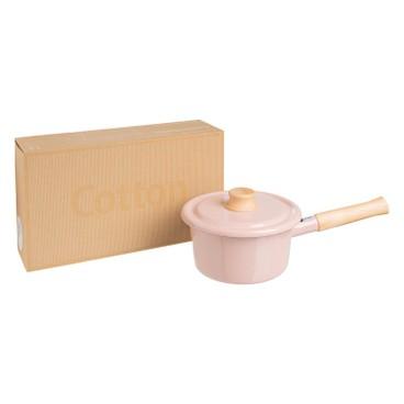 ENAMEL - IH 手柄式湯鍋16CM (粉紅色) (電磁爐適用) - PC