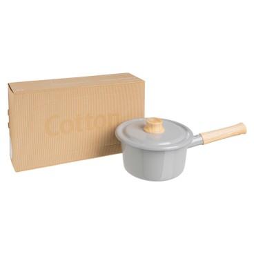 ENAMEL - IH 手柄式湯鍋16CM (淺灰色) (電磁爐適用) - PC