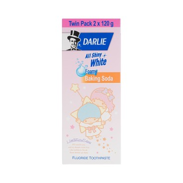DARLIE - All Shiny White Toothpaste bakng Soda Little Twin Stars Limited Edition Twin Pack - 120GX2