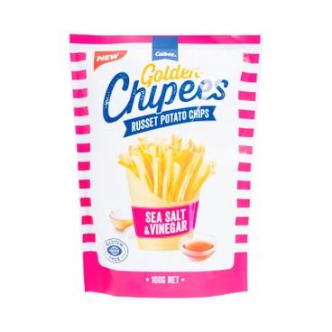 CALBEE - Golden Chipees Russet Sea Salt Vinegar Flavoured - 100G
