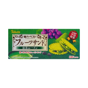 TOHATO - Harvest Fruit Sand Matcha Raisin Flavor - 8'S