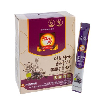 KOREA GINSENG DISTRIBUTION - Aronia All Filled Six Years Old Red Ginseng Stick - 12GX30