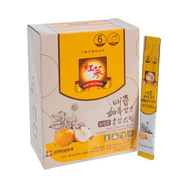 KOREA GINSENG DISTRIBUTION - Pear Extract All Filled Six Years Old Red Ginseng Stick - 12GX30
