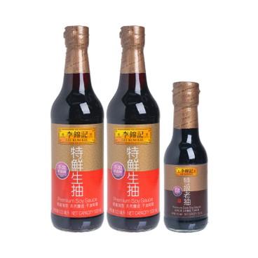 LEE KUM KEE - Premium Soy Sauce Premium Dark Soy - 500MLX2+150ML