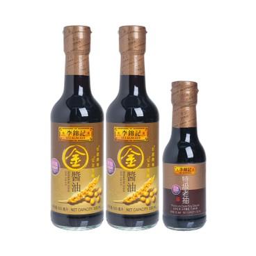 LEE KUM KEE - Premium Gold Soy Sauce Premium Dark Soy - 500MLX2+150ML