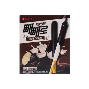 LOTTE - Pepero Rich Choco Double Dip Stick - 50G