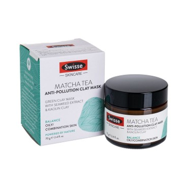 SWISSE(PARALLEL IMPORT) - MATCHA TEA ANTI-POLLUTION CLAY MASK - 70G
