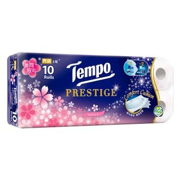 TEMPO - Prestige 4 ply Bathroom Tissue Sakura Limited Edition - 10'S