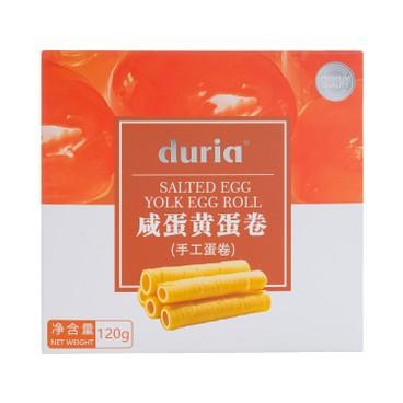 DURIA - 手工蛋卷-咸蛋黃味 (獨立包裝) - 120G