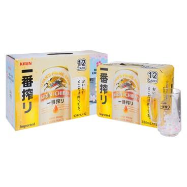 KIRIN - Ichiban Can With Sakura Mug - 330MLX12