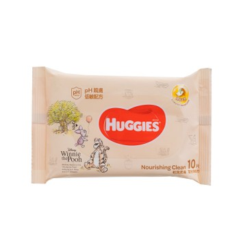 HUGGIES - Nourishing Clean Baby Wipes - 10'S
