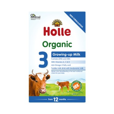 HOLLE - Organic Growing Up Formula 3 New Package - 600G