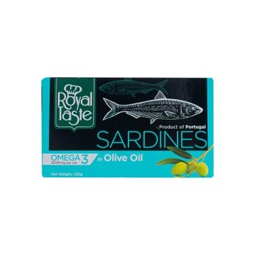 ROYAL TASTE - SARDINES IN OLIVE OIL - 120G