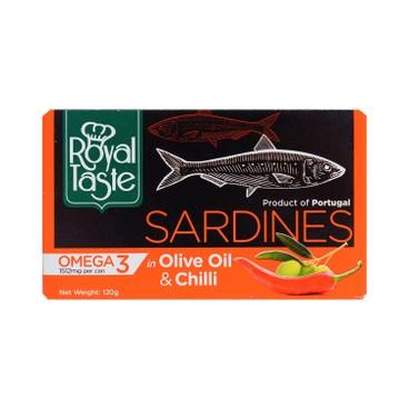 ROYAL TASTE - SARDINES IN OLIVE OIL & CHILLI - 120G