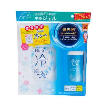 BIORE(PARALLEL IMPORT) - Uv Aqua Rich Micro Defense Water Gel Sunblock Spf 50 pa With Cold Wet Tissue - 85G