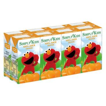 SIMPLY KIDS - 100 Elmos Apple Juice - 125MLX8