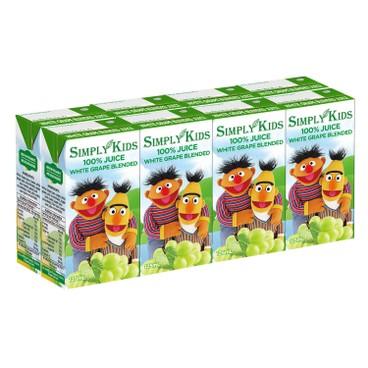 SIMPLY KIDS - Bert Ernies Apple Juice - 125MLX8