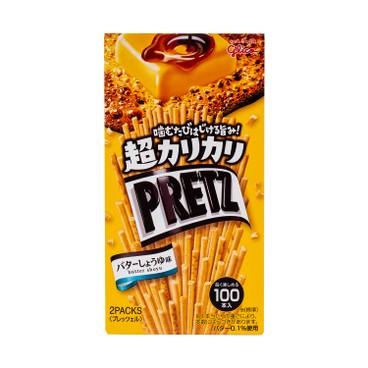 GLICO - Pretz Super Crunchy Butter soy Sauce Biscuit Stick - 55G