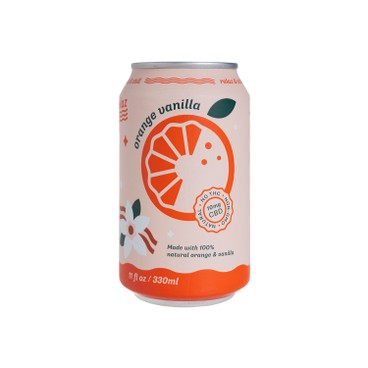 RELAZ - Cbd Soda Orange Vanilla - 330ML