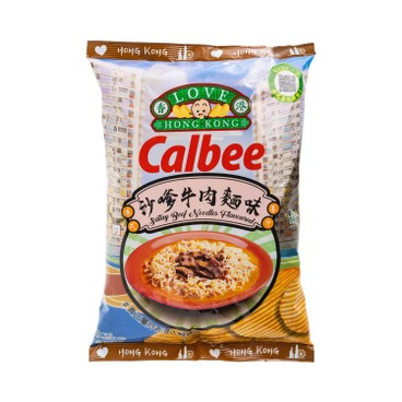 CALBEE - Satay Beef Noodles Flavoured Potato Chips - 70G
