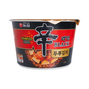 農心 - 碗麵-黑版辛辣麵(豆腐泡菜味) - 94G
