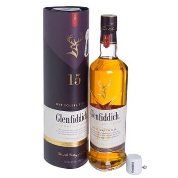 格蘭菲迪 - 威士忌 - 15年單一純麥 套裝 (內附迷你藍牙揚聲器) - 70CL