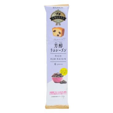 BOURBON 百邦 - 條裝蛋糕-芳醇冧酒提子味 - 6'S