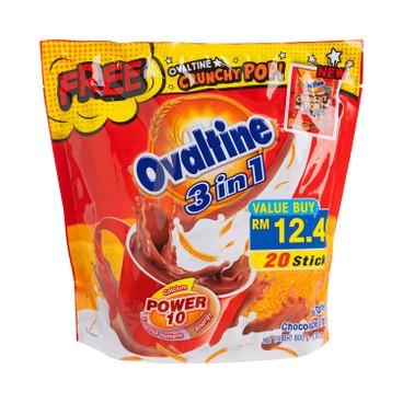 OVALTINE - 3 IN 1 NUTRITIONAL MALTED MILK - 30GX20'S