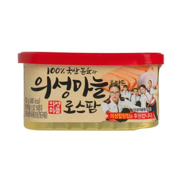 LOTTE - LUNCHEON MEAT CAN GARLIC FLAVORED - 200G