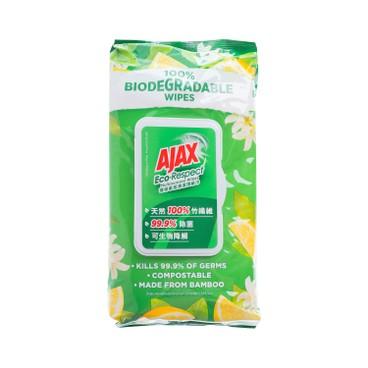 AJAX - 天然100%竹纖維萬用除菌消毒環保家居濕紙巾 (清新檸檬) - 110'S