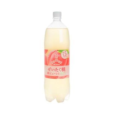 ASAHI - MITSUYA LUXURY PEACH SODA - 1.5L