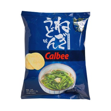 CALBEE - JAPANESE GREEN ONION UDON FLAVOURED POTATO CHIPS - 70G