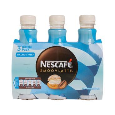 NESCAFE - SMOOVLATTE® WALNUT PUFF FLAVOUR COFFEE - 268MLX3