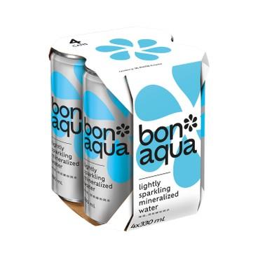 BONAQUA - SPARKLING MINERALIZED WATER - 330MLX4