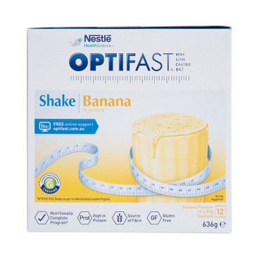 NESTLE HEALTH SCIENCE - OPTIFAST® WEIGHTLOSS MILKSHAKE (BANANA FLAVOUR) - 53GX12