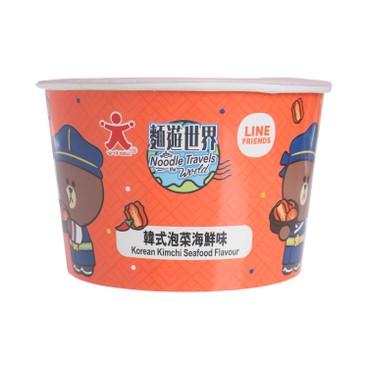 公仔 - 碗麵-韓式泡菜海鮮味即食麵 - 72G