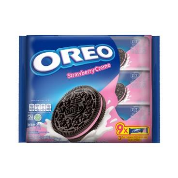 OREO 奧里奧 - 夾心餅-士多啤梨味 (家庭裝) - 256.5G