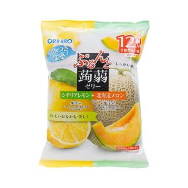 ORIHIRO - 蒟蒻啫喱-北海道蜜瓜及檸檬味 (期間限定) - 240G