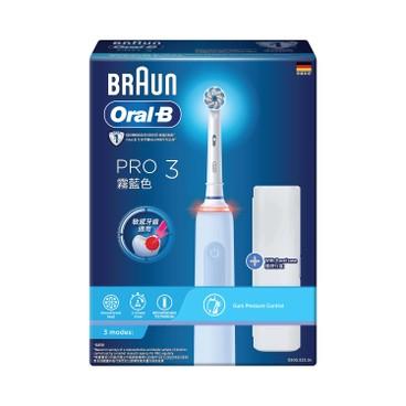 ORAL-B - PRO3 電動牙刷-霧藍色 - PC