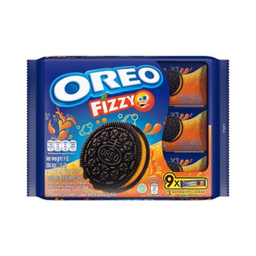 OREO - FIZZY FLAVORED CREAM CHOCOLATE SANDWICH COOKIES - 256.5