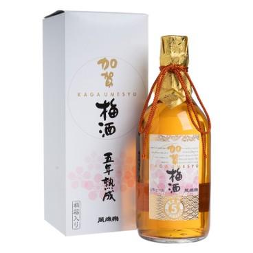 萬歳楽 - 加賀梅酒 5年熟成 化粧箱入 - 720ML