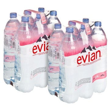 EVIAN(PARALLEL IMPORT) - Natural Mineral Water - 1.5LX6X2