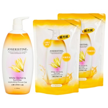 JOSERISTINE BY CHOI FUNG HONG - White Orchid Sucrose Moisturizing Shower Gel 1 2 Bundle - SET