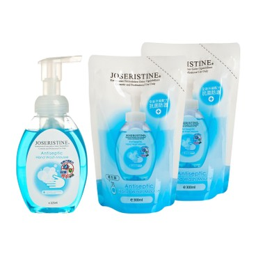 JOSERISTINE BY CHOI FUNG HONG - Antiseptic Hand Wash Mousse 1 2 Bundle Set - SET
