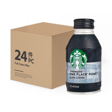 STARBUCKS - Pike Place Roast Black Coffee - 275MLX24