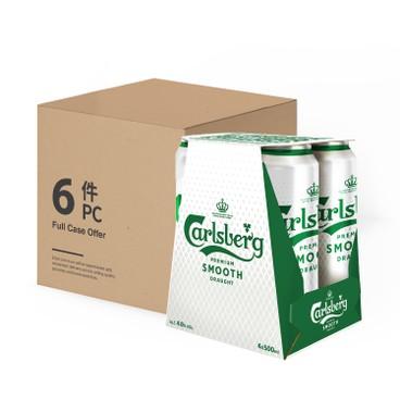 嘉士伯 - 啤酒-醇滑 (巨罐裝)-原箱 - 500MLX4X6