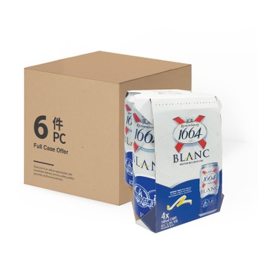 KRONENBOURG 1664 - Blanc King Can case Offer - 500MLX4X6
