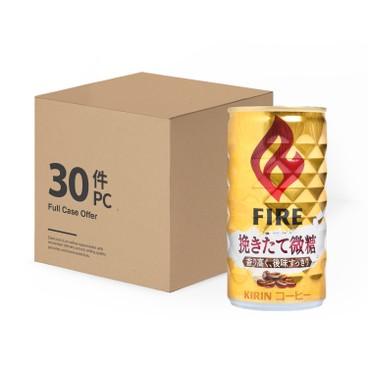 KIRIN - FIRE SLIGHTLY SWEET COFFEE-CASE OFFER - 185MLX30