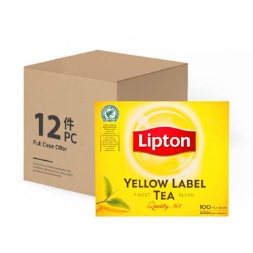 LIPTON - Yellow Label Teabags - 2GX100X12